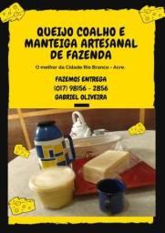 Título do anúncio: Queijo e manteiga de fazenda.
