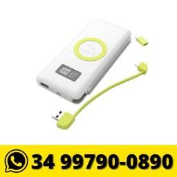 Carregador Portátil 10000mah c/ Tecnologia Wireless Pineng