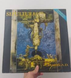 Título do anúncio: Disco vinil - Sepultura - Chaos a.d. LP
