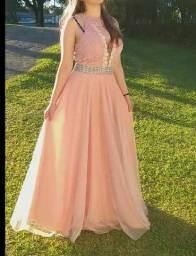 Vestido Rosê Madrinha ou Formatura
