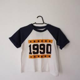 Camiseta Cropped 1990