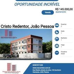 Apartamento para Venda em João Pessoa, Cristo Redentor, 2 dormitórios, 1 suíte, 1 banheiro