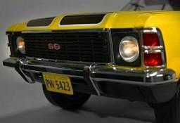 Miniatura Salvat Chevrolet Opala Ss 1976 Amarelo (montado).