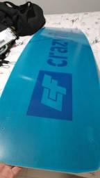 Título do anúncio: Prancha Kit Surf Crazyfly Acton 2021  140 X 42. Barbada!