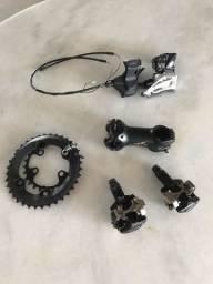 VENDO kit Deore + mesa TSW + pedal clip