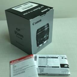 Título do anúncio: Caixa de lente Canon 85mm 1.8