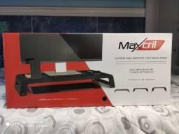 Título do anúncio: Suporte Para Monitor E Notebook Prime Maxcril Preto (NOVO)
