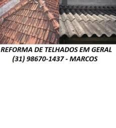 Título do anúncio: vazamento conserto reforma telhasdiversos modelos madeira concreto servico com garantia