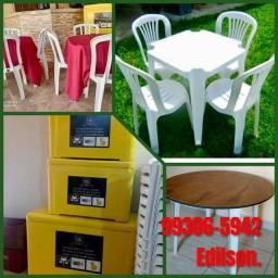 Título do anúncio: Aluguel Locacao Mesas e Cadeiras, Caixa Termica, Toalhas.