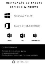 Título do anúncio: Instalação do Pacote office e Windows