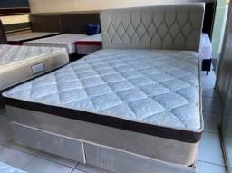 cama box queen size + cabeceira