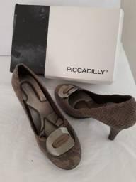 kit  com três  03  pares de sapatos  femininos marcas picadilly e usaflex n 35  como novas