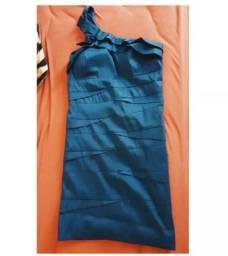 Vestido curto tafetá