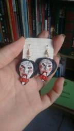 Título do anúncio: Brincos artesanais de terror para o Halloween