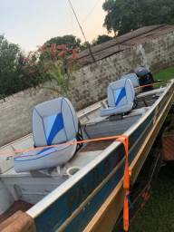 Título do anúncio: Barco semi chata 6 mts completo