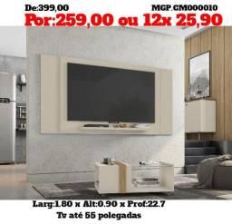 Painel de televisão até 55 Plg- Painel de TV- Sala de Estar-Painel Grande- Saldão em MS