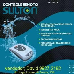 Vendemos controle remoto Sulton para motor de portão de garagem, (resistente à água)