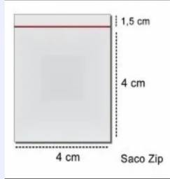 Título do anúncio: Saco Ziplock N0 4x4cm 100un