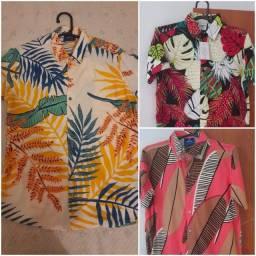 Camisas Florais/Estampadas  todas tamanho P na etiqueta