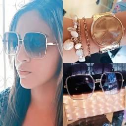 Kit luxo relogio+oculos 1°linha