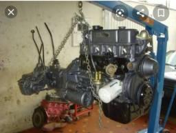 Vendo motor completo com caixa de opala 4 cilindros