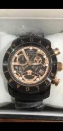 Relógio BVLGARI Skeleton Black a prova d'água