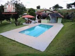 Título do anúncio: Ch0381 - Linda chácara com escritura em Socorro, 04 quartos, piscina, lago, campo