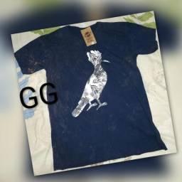 Camisa pré lavada não encolhe otima qualidade GG
