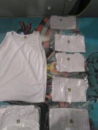Camisetas infantis brancas unissex
