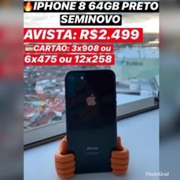 IPhone 8 64gb seminovo, aceito iPhone usado como parte do pagamento
