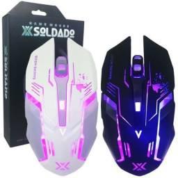 Mouse Gamer X Soldado Iluminação Led (Fazemos Entregas a Domicílio)