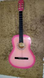 Violão acústico cor de rosa giannini