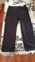 Calça comprida brim Preta masculina Lacoste - 44