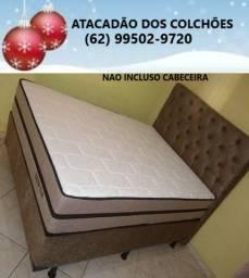 Cama Box + Colchão Tamanho Casal ( Loja Atacadão ) *