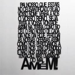 Quadro Oração do Pai Nosso - MDF - Entrega Grátis Goiânia