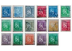 Lote de 17 selos Finlandeses - 1930 - 1946