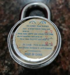 Cadeado sem chave com segredo