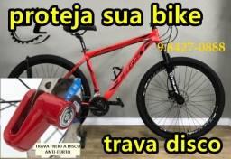 bicicleta trava segurança