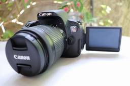 Título do anúncio: Câmera DSLR Canon Rebel T5i Kit IS STM Completa