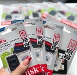 Cartão de Memória Micro SD de 128GB SanDisk Ultra - Classe 10
