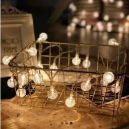 Título do anúncio: Fio de fadas led com 20 lâmpadas formato bolinhas