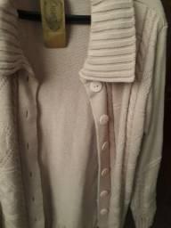 Casaco tricot rosé