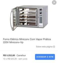 Forno elétrico com vapor prática