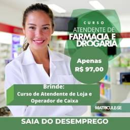 Título do anúncio: Curso Atendente de Farmácia (EAD)