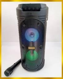 Caixa de som torre Bluetooth com microfone Nova na caixa