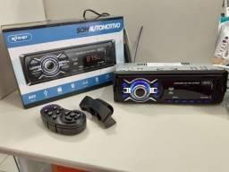 Título do anúncio: Som Automotivo Bluetooth/mp3 Fm Usb Controle No Volante