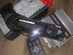 Kit rádio + fone + amplificador