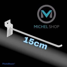 Título do anúncio: Kit gancho 15cm para painel canaletado expositor