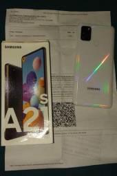 Samsung A21s branco 64Gb Aparelho NOVO