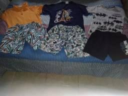 Título do anúncio: 03 Conjuntos camiseta e bermuda infantil menino R$35